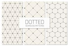 Dotted Seamless Patterns. Set 6 by Curly_Pat on Creative Market