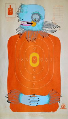 Jennifer Davis Art: Custom Hand-Painted Paper Shooting Targets