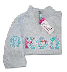 Kappa Phi Omega Monogramalamodeshop Sorority Sweatshirt, Sorority Letters Lilly pulitzer, Monogram