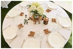 white and wood table setting // Photography: Prairie and Pine Studios