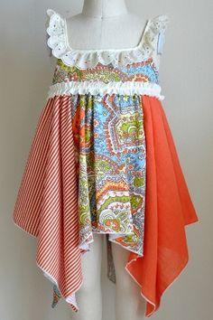 Vintage Boho Hankerchief Dress