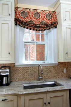 Custom Designer Swag Valance, Relaxed Roman Stationary Curtain, Fabric  Options · Kitchen WindowsKitchen CurtainsKitchen ...