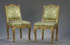 Paire de chaises à dossier plat, début de l'époque Louis XV | Vendu 4000€ le 22 avril 2016 I Daguerre