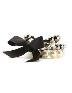 ❥ Ribbon Wrapped Stretch Bracelet: Charlotte Russe