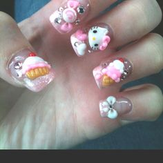 When I get back in school I'm going to teach myself 3D nail art :) hopefully I can talk my hubby into letting me get one more set done before we leave island! <3