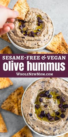 If you love olives and hummus, this Olive Hummus recipe is sure to be a fave! Kalamata olives compliment the creaminess of the hummus spread, making a delicious twist on traditional Middle Eastern hummus. Sure to delight every hummus lover. Recipes Appetizers And Snacks, Vegan Appetizers, Savory Snacks, Healthy Snacks, Olive Recipes, Greek Recipes, Whole Food Recipes, Cooking Recipes, Olive Hummus Recipe