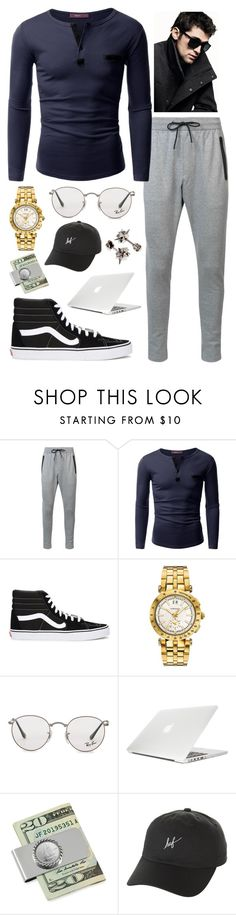 """""""~Dakota's First Day Outfit For My Book~"""" by logibear1534 on Polyvore featuring Zanerobe, Doublju, Vans, Versace, Ray-Ban, DKNY, Moshi, American Coin Treasures, HUF and Alexander McQueen"""