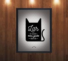 Quadro Decorativo - Gato
