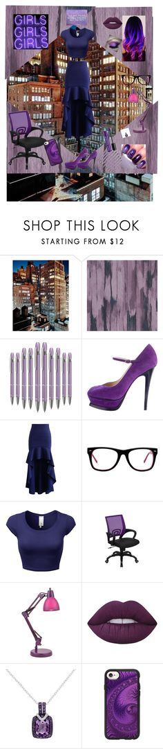 """""""Purple Maniac"""" by emo-girl-music14 ❤ liked on Polyvore featuring Designers Guild, Yves Saint Laurent, Chicwish, Muse, Flash Furniture, Lite Source, Lime Crime, Casetify and Charlotte Russe"""