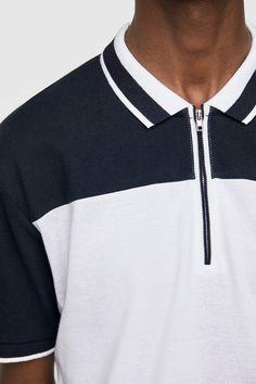 Polo Rugby Shirt, Mens Polo T Shirts, Collar Shirts, Polo Shirt Design, Polo Design, Zara, Casual Outfits, Men Casual, Shirt Designs