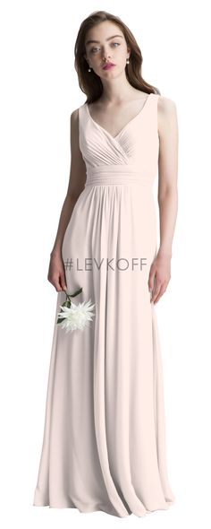 Bill Levkoff 7006 is shown in Shell Pink and a size 10.