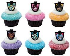 MONSTER High (24) Clawdeen Draculaura Cupcake RINGS Toppers Cake Pop Decorations *** Trust me, this is great! : baking decorations