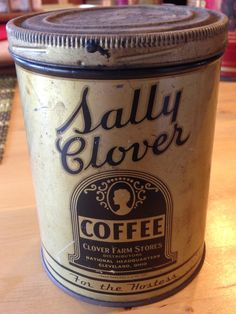 Sally Clover Coffee vintage tin