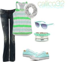 """""""Summer stripes"""" by callico32 on Polyvore"""