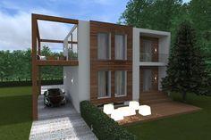 Znalezione obrazy dla zapytania dom kostka modernizacja