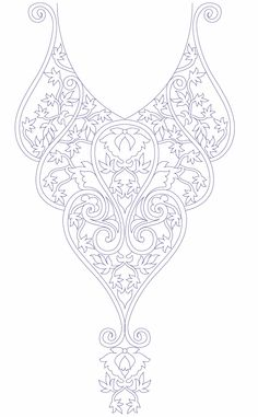 Neck Line Embroidery Design Development