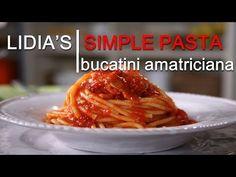 Simple Pastas: Bucatini with Tomato and Pancetta Dinner Pasta – Dinner Recipes Italian Pasta, Italian Dishes, Italian Recipes, Italian Foods, Italian Cooking, Pasta All Amatriciana, Pasta Soup, Pasta Dishes, Pasta Recipes