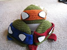 Ninja Turtle Beanies! I'm pretty sure everyone in my family would like these