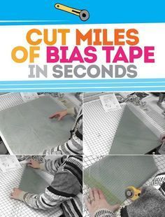 The Unbelievably FAST Way to Cut MILES of Bias Tape! - Bite Sized Biggie