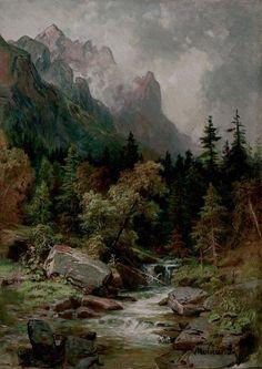 Molnár József , Tarpataki táj , 1880-as évek, Olaj, Karton