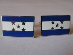 Honduras Flag Cufflinks by LoudCufflinks on Etsy, $25.00