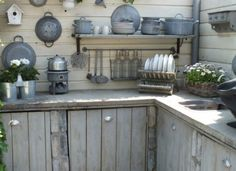 Inspiration for layout  (walls/counter) for potting shed...the base cabinets are very similar to mine....