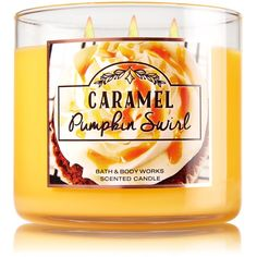 3-Wick Candle ($23) ❤ liked on Polyvore featuring home, home decor, candles & candleholders, vanilla candles, pumpkin candles, three wick candles and 3 wick candles