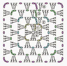 かぎ編み教室 クロッシェ・ジャパン Crochet Japan ブログ: 四角モチーフの基本の編み方