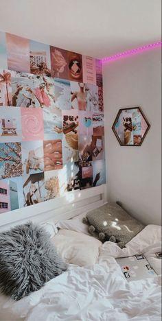Cute Bedroom Decor, Room Ideas Bedroom, Small Room Bedroom, Bedroom Inspo, Neon Room, Indie Room, Pretty Room, Aesthetic Room Decor, Cozy Room