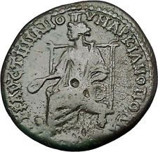 CARACALLA 198AD Marcianopolis CYBELE Lions Authentic Ancient Roman Coin i50919