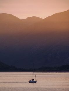 Lovely sunset at the Ballachulish Hotel.