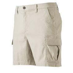 Men's Croft & Barrow® True Comfort Classic-Fit Twill Performance Cargo Shorts, Size: 38, Lt Beige