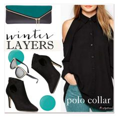 """""""polo collar"""" by paculi ❤ liked on Polyvore featuring Henri Bendel, Pop Beauty, women's clothing, women's fashion, women, female, woman, misses, juniors and nastydress"""