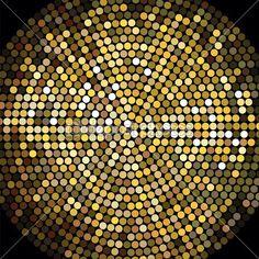 Fondo de mosaico dorado bola de discoteca — Vector de stock © davesdisco1 #24990769