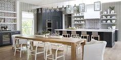 Stunning Interior and Exterior Modernistic Genius Modern Farmhouse Kitchens, Farmhouse Design, Home Kitchens, Decorating Your Home, Interior Decorating, Interior Design, Newport Beach, Luxury Kitchen Design, Farmhouse Furniture