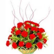 Bring A Smile, Red Carnations, Carnation Basket
