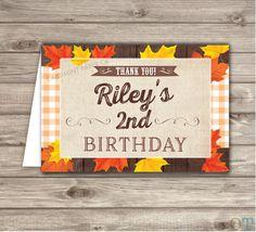 Fall Boy Birthday Thank You Cards