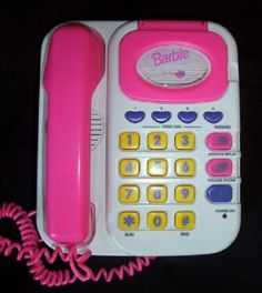 my barbie phone - with a tape for messages!