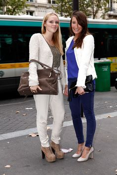 Especially love the look on the right in Blue with a white jacket