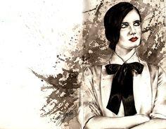 Portrait of Eva Green http://www.pinterest.com/candicevolture/