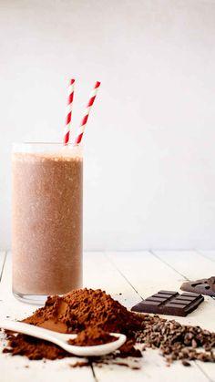 Chocolate Oatmeal Smoothie - www.foodess.com