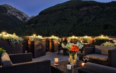 Magnificent views from the penthouse deck in downtown Telluride vacation rental.  www.heartoftelluride.com