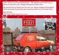 We would like to thank you for your on-going support throughout 2016 and look forward to your business with us in the New Year.   Best Wishes – The Frost Team  #FrostRestoration #christmastime #christmastime2016 #NewYear #NewYear2017