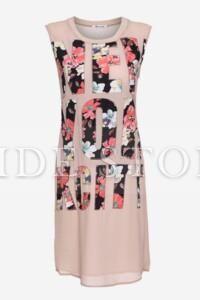 Tidestore Design Artistic Letters and Flowers Print Sleeveless Maxi Dress-Black/Pink #Tidestore #Tidestyle  #Maxidresses