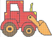 Tractor Pattern can be purchased on my website @ http://plasticcanvas.ca     Artwork by ClipArtopia