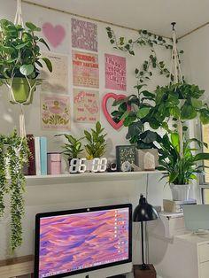 Bedroom Desk, Bedroom Inspo, Dream Bedroom, Gallery Wall, Cute Room Ideas, Room With Plants, New Room, Room Inspiration, Frame