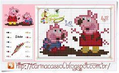 Cross stitch peppy pig