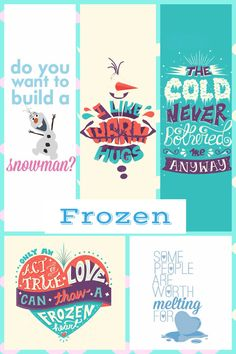 Collage of frozen quotes