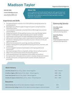 new dental hygiene resume templates - Dental Hygiene Resume