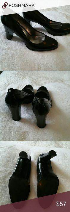 Black Calvin Klein shoes Black Calvin Klein shoes with thick heel Calvin Klein new shoes Shoes Heels
